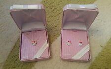 BNIB Walt Disney World Minnie Mouse Swarovski Necklace & Earrings Genuine