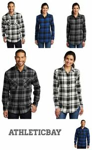 NEW Western Plaid Flannel Long Sleeve Button Country Rodeo Shirt Men's or Ladies