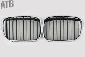 KÜHLER GITTER NIEREN SATZ LINKS RECHTS CHROM SCHWARZ FÜR BMW E39 96-99