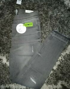 Girls justice jeggings size 12 new washed grey