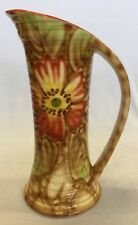 Vintage Falcon Ware 1930s Thomas Lawrence Floral Ribbed Jug