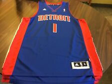 "DETROIT PISTONS NBA  # 1 WEBASTO SEWN  BASKETBALL JERSEY  BY  ADIDAS  MEN""S XL+2"