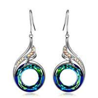 ❤️ Boucles d'oreilles argent 925 cristal de swarovski Agatha Smith Bleu