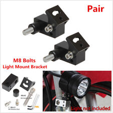 Pair M8 Motorcycle Lower Fork Mount Headlight Holder Spotlight Fog Lamp Bracket