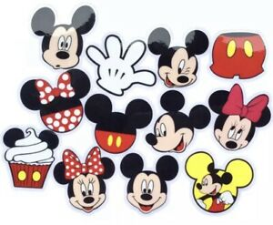 RARE! 12 Large Disney Mickey Minnie Mouse Large Waterproof Stickers Laptop