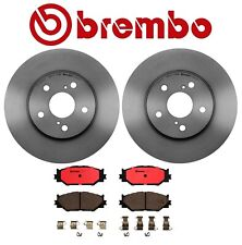 For Lexus IS250 '06-'08 Front Brake Kit Coated Disc Rotors & Ceramic Pads Brembo
