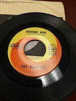 45 Record The Beatles Nowhere Man/What Goes On Very Good Free Shipping