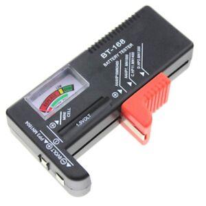 Battery Tester Universal Volt Checker AAA, AA, C, D, 9V&Button perfect