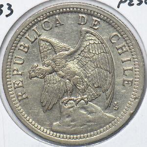 Chile 1933 Peso (Defiant) Condor animal 150601 combine shipping