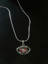 San Francisco 49ers Necklace Pendant Sterling Silver Chain NFL Football