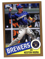 2020 Topps Keston Hiura 20/50 GOLD parallel 1985 35th Anniversary card Brewers