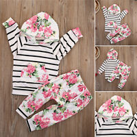 Toddler Kids Baby Girl Hoodie Tops Shirt+Pants Leggings 2Pcs Outfits Set Clothes