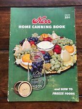 Vintage Kerr Home Canning Book 1955 1950's Housewife Preserving Freezing