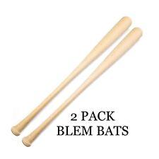 2 Pack Wooden Blem Baseball Bats (FREE SHIPPING!)