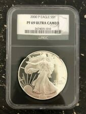 2000 Silver Eagle NGC PF 69 Ultra Cameo