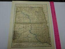 1891 & 1903 Map of North & South Dakota