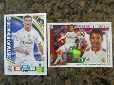 CRISTIANO RONALDO*REAL MADRID SOCCER CARDS*NEW 2016*STICKER and PANINI ADRENALYN