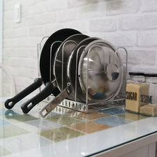 Prime Pan Organizer Rack (4-Tier) Stainless Steel  Stand Holder