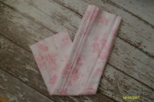 SIMPLY SHABBY CHIC Rose Toile Shower Curtain Pink White Cotton NEW