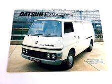 1979 1980 Datsun E20 Panel Cargo Van UK Original Sales Brochure Folder