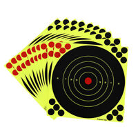 10 sheets/set Shooting Targets Glow Florescent Paper Target for Hunting Arrow US