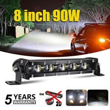 8inch 6D Slim Single Row LED Work Light Bar Spot Beam Off road Lamp For Jeep ATV