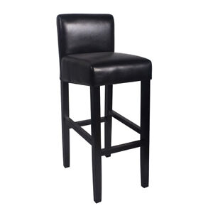"""NEW! MODERN WOOD/LEATHER BARSTOOL - 32"""" CONTEMPORARY BAR/COUNTER STOOL -BROOKLYN"""