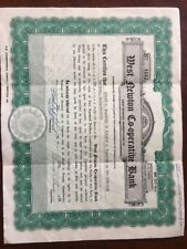 1966 Certificate #4633 - Share in West Newton Co-operative Bank, West Newton, Ma