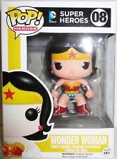 "New listing Wonder Woman Dc Super Heroes Pop 4"" Vinyl Figure #8 Funko Protector Mint 2014"