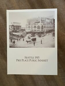 1915 Pike Place Market Seattle Poster out of Print