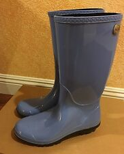 Chic!!!!**WOMEN'S UGG TALL RAIN BOOTS IN Blue SIZE 9 us