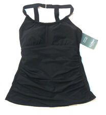 L.L. Bean Slimming Swimwear High Neck Tankini Black 10 Reg MSRP $69