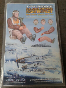 1/32 Masterdetails US Army/Air Force Fighter Pilot Mid to Late WW2