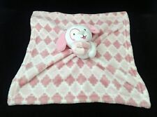 Sl Home Fashions Puppy Dog Plush Pink & White Security Fleece Blanket Lovey Toy