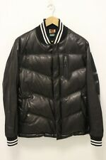 NIKE Football The League Men's Leather Destroyer Puffer Jacket SAMPLE - Medium