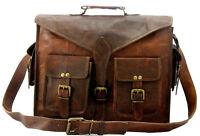 Men's Leather Vintage Shoulder Brown Handmade Messenger Laptop Sachel Bag