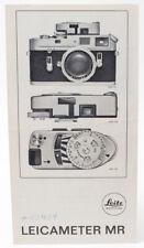 Original Leica Fold-Out Brochure for Leica-Meter MR - 1971