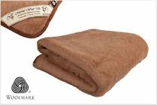LUXURY AUSTRALIAN MERINO  WOOL CAMEL BLANKET BED THROW  ALL SIZES WOOLMARK
