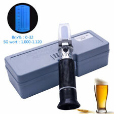 RSG-32ATC hand held SG 1.000-1 .120 Beer Refractometer 0-32% Brix Reference Temp