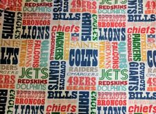 Vintage NFL Teams Twin Bed Sheet Set. Pillowcase, Fitted Sheet, Flat Sheet,
