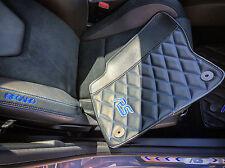 2016 FORD Focus RS Custom Aftermarket Floor Mat Set Hybrid Leather Carbon Fiber