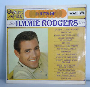 RARE JIMMIE RODGERS '16 HITS OF' LP DOT LABEL A1/B1 1966 LPD 510  EX / VG+