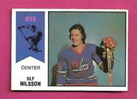 RARE 1974-75 OPC WHA # 4 JETS ULF NILSSON ROOKIE EX-MT CARD (INV# D2924)