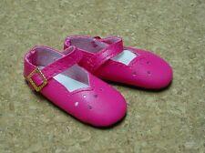 "Doll Shoes, SLIM*  58mm DARK PINK Girl Dressy - fits 14"" Kish"