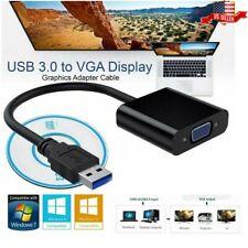 USB VGA Female To HDMI Male 1080P Video Cable HDTV PC Cord Converter Adapter