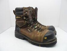 """CAT Caterpillar Men's HAULER 8"""" Comp Toe WP Work Boot P717629 Brown 12W"""