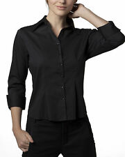 Collared 3/4 Sleeve Regular Size Tops & Shirts for Women