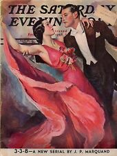 1937 Saturday Evening Post April 10 - Marquand; Trains; Dancing; Carole Lombard