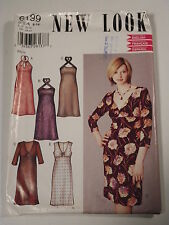 Sexy Dress in 5 Styles Sewing Pattern New Look #6199 Size 6-16 Uncut Complete