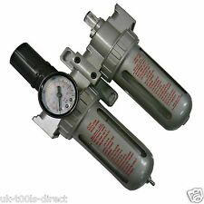 Air Tool  Line Regulator Lubricator Water Trap Filter Gauge Spraying Regulates
